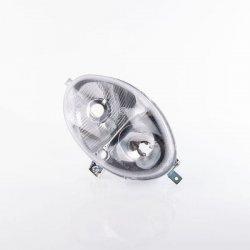 GRUPPO OTTICO ANTERIORE OVALE (110×165) CON PORTALEMPADE E MOLLE PER FISSAGGIO LAMPADE